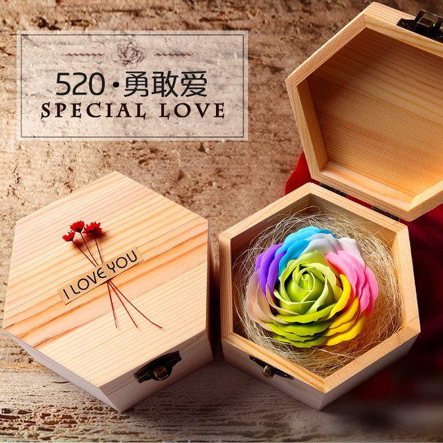 1Pcs Fashion Creative Birthday Present For Girlfriend Romantic Roses Special Gift Box Wash Bath Will Never