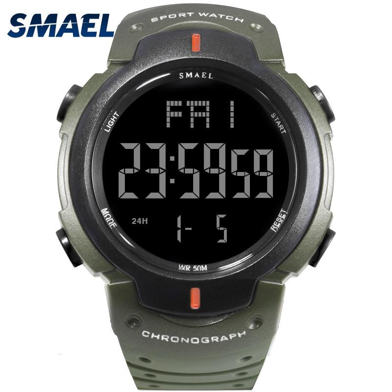 Reloj militar SMAEL Army Fashoin reloj hombres Big Dial S Shock Relojes  deportivos informales Hombre 0915 reloj Digital LED para Hombre 1caf27094b69