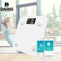 Bluetooth Lichaamsvet Schaal Smart BMI Digitale Badkamer Draadloze Gewicht Floor Schaal Lichaam Samenstelling Analyzer met Smartphone App