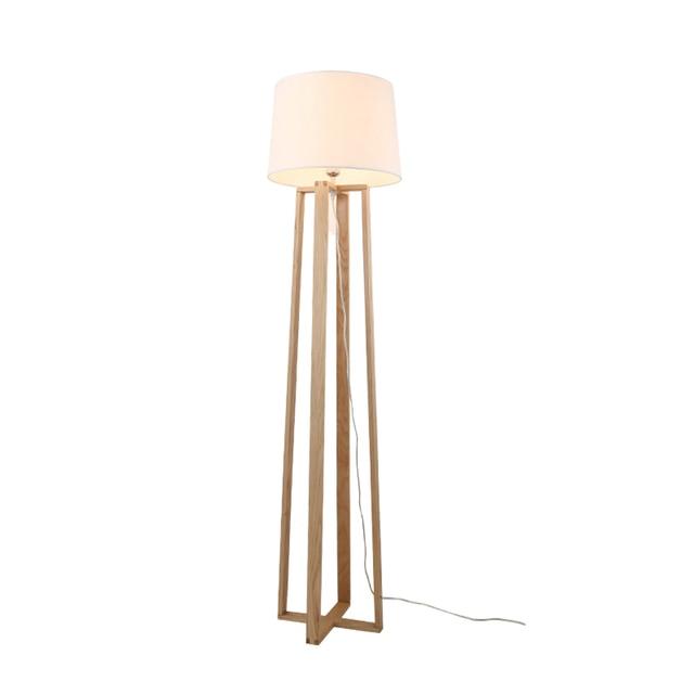 Nordic Moderno Nordic lampade da terra in legno legno Tessuto ...
