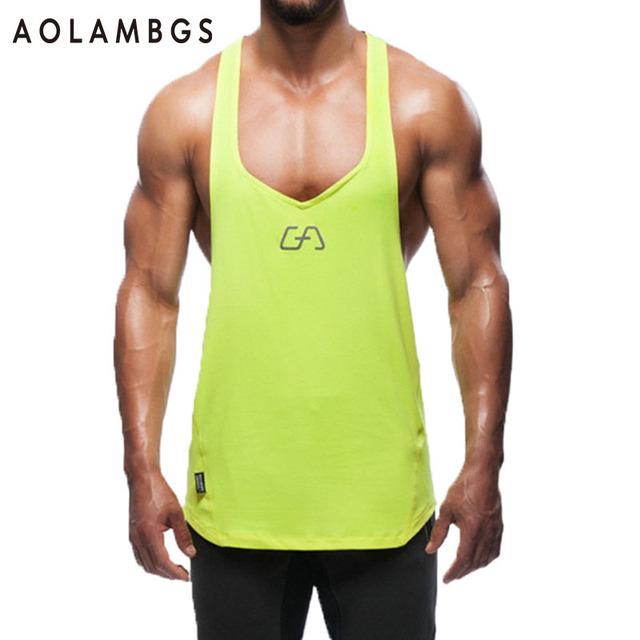 Regata Gymshark Homens GymShark Musculação Singlet Undershirt Sportswear de Fitness-secagem Rápida Colete Sem Mangas dos homens Camisa