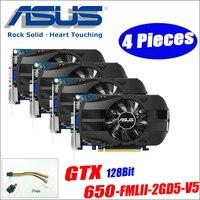 Asus GTX 650 FMLII 2GD5 V5 4 шт GTX650 GTX 650 2 г D5 DDR5 128 бит настольных ПК Графика карты PCI Express 3,0 компьютеров Графика