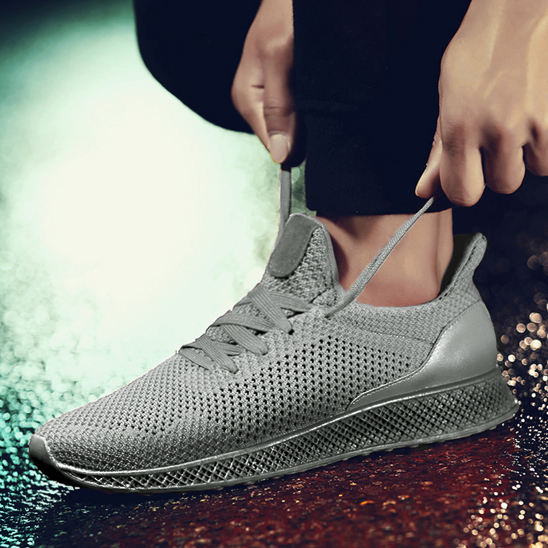 Kiss Shoes MWSC Designed Fly Weave Mens Casual Shoes Future Theory Male Breathable Lace Up Leisure Chaussure Shoes