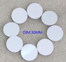 125 k EM4100 TK4100 RFID Tags, los moeda/cartão redondo, Controle de acesso Cartão de Diâmetro 30mm, min: 10 pcs