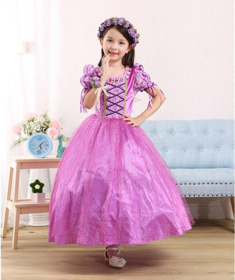 Sofia Princess Dress Kids Cosplay Costumes Girls New Arrival: Rapunzel Princess Dress Costume Kids Girls Princesse Sofia