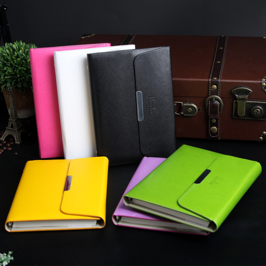 A5 Faux Leather Notebook Spiral Loose Leaf Personal Dairy Memos Planner Organizer Notepad Travel Journal Business Office Books high quality pu cover a5 notebook journal buckle loose leaf planner diary business buckle notebook business office school gift