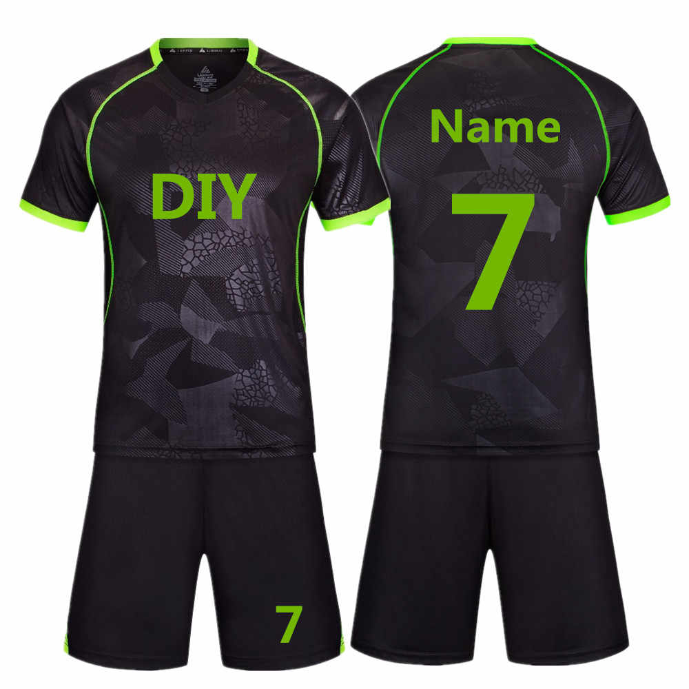 52f13cd79bb 2018 New High Quality Kids Soccer Jerseys Sets Survetement Football Kits  Adult Men Child Futbol Training