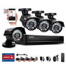 SANNCE 8CH CCTV DVR HDMI 4 UNIDS 900TVL IR Resistente A la Intemperie Al Aire Libre Sistema de Video Vigilancia CCTV Cámara de Seguridad Inicio Kits de RU Stock