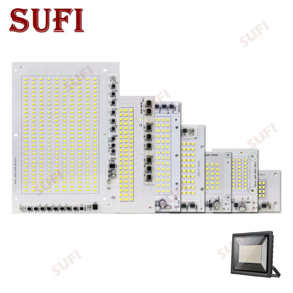 <font><b>LED</b></font> Lamp Chips AC220V Smart IC SMD 2835 <font><b>Led</b></font> Light 10W 20W 30W 50W 100W <font><b>150W</b></font> 200W Pure White For DIY Outdoor FloodLight Spotlight image