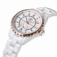 Fashion Brand women ceramic watches high quality women dress watch lady waterproof quartz watch wristwatch free shipping