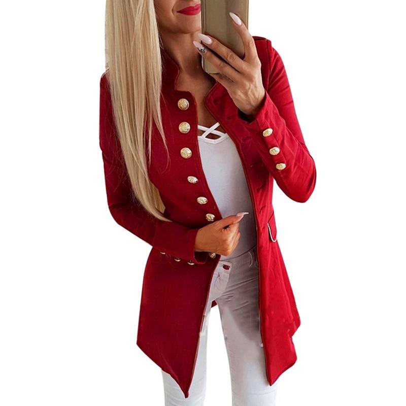 Frauen Kleidung & Zubehör Blazer Lasperal Frauen Herbst Slim Fit Smart Casual Blazer Lange Ärmel Büro Vintage Gothic Plus Größe Damen Jacke Herbst Mäntel Weibliche