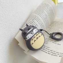 Cartoon 3D Totoro lifting rope Wireless Bluetooth Earphone Case For Apple AirPods Silicone Charging Shockproof Bumper