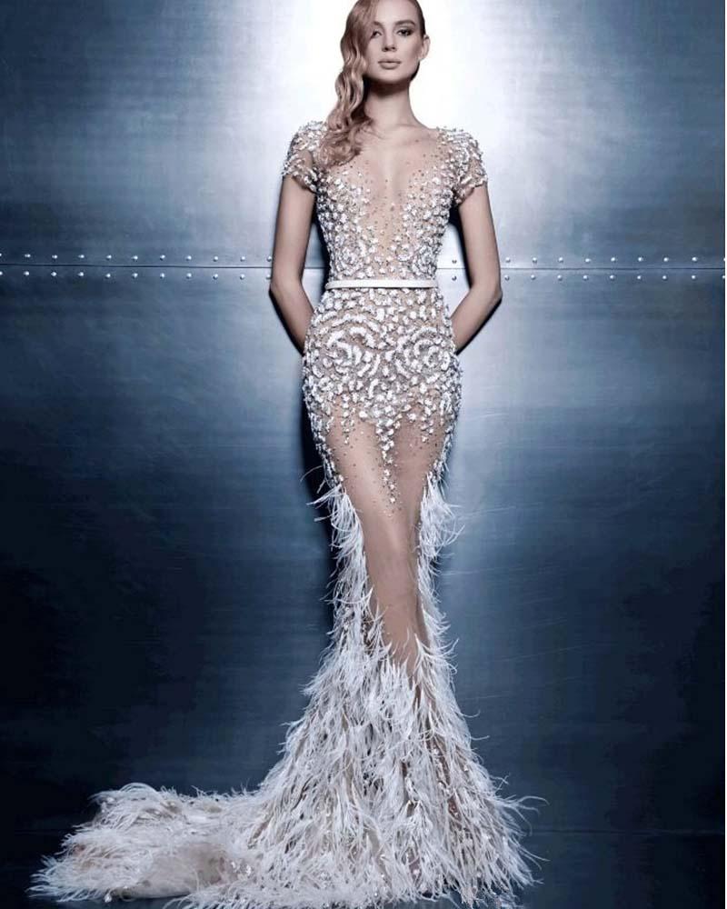 Mermaid Dress With Feathers | Weddings Dresses