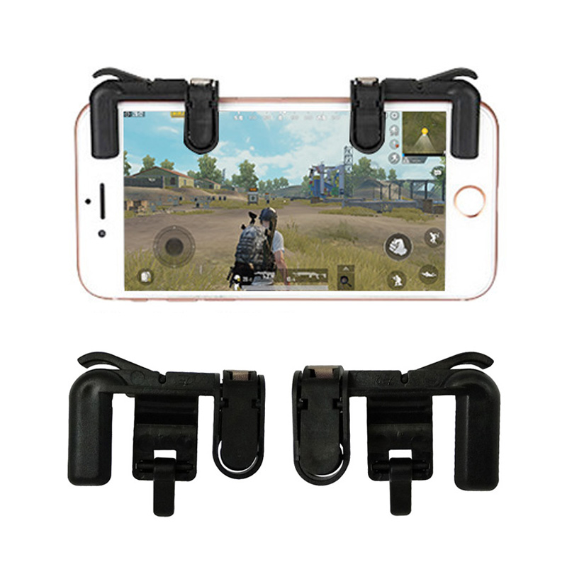 1 Pair R1L1 Mobile Phone Game Trigger For Pubg Controller Aim Keys L1R1 Free Fire Shooter For Pubg Control Mobile Accessories