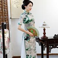2019 summer folk style vietnam robes chiffon aodai graceful dress stand collar elegant traditional clothing ao dai asian dress