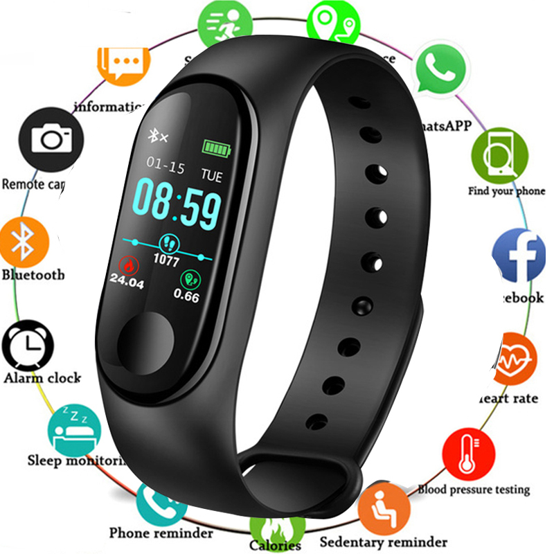 Smart Watch Men Women Heart Rate Monitor Blood Pressure Fitness Tracker Smartwatch Sport Smart Clock Watch For IOS Android