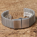 De Malla de plata Reloj de Acero Inoxidable Band Mujeres Reloj Correa de Los Hombres de Alta Calidad de 22mm con Hebilla de Mariposa GD0182