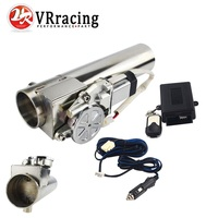 VR RACING Universal 2.5'' or 3'' Exhaust Pipe Electric I Pipe Cutout with Remote Control Wholesale Valve For Jeep Wrangler