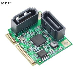 Mini PCI-Express SATAIII 3.0 6 Gbps ASM1061 Controller Card Mini PCIE 2-port SATA 3.0 Uitbreidingskaart adpater Adaptador voor HDD