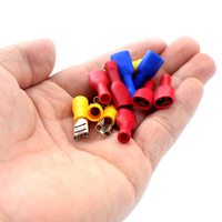 TSLEEN 400pcs Box Electrical Wire Terminal Connector Heat Shrink Sleeving Cable Crimps 10a 15a 24a Male