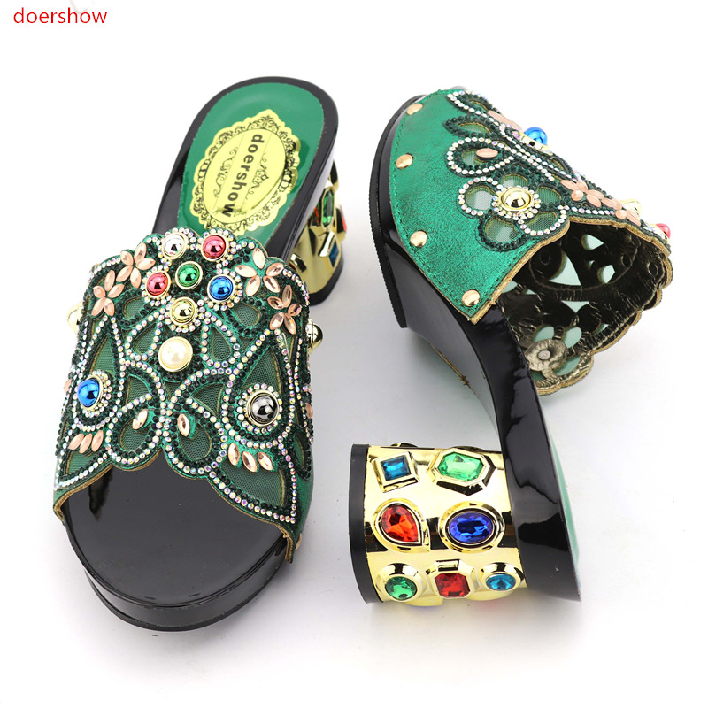 doershow High Quality Women Shoes And Bags To Match African Shoes and Bag Sets Italian Shoes Matching With Bags for party KGB1-7 doershow italian shoes with matching bags for party high quality african shoes and bags set for wedding shoe and bag pys1 10