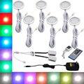RGBW RGB + White LED Sob Gabinete Light 6 Lâmpadas Kit com IR Controle Remoto Pode Ser Escurecido para Cozinha Decoração Sotaque iluminação