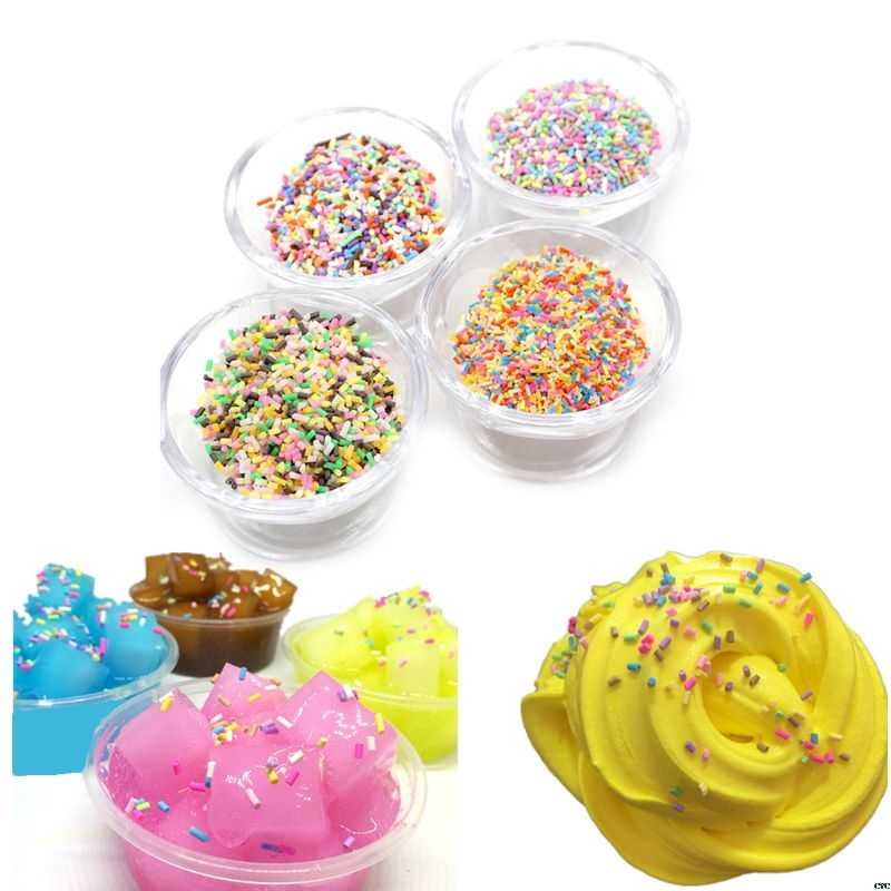 26g Plastic Rainbow Sprinkles Fluffy Floam Slime Clay Mud DIY Slime Accessories