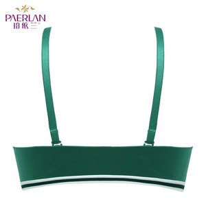 Image 5 - PAERLAN Seamless Push Up Front Closure Wire Free Stripe Beauty Back Bra  Small Breast Gathers Sexy Green Underwear Women