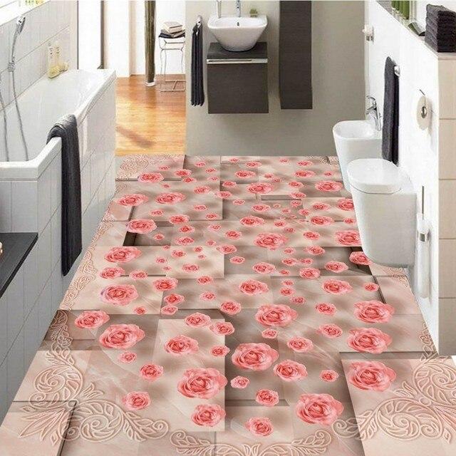 Free shipping photo floor Marble pattern mosaic 3D art flooring ...