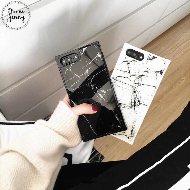 Von Jenny Neue Marmor Silikontelefonkasten für iPhone 6 s 6 Plus 7 7 Plus i7 Stein Textur Weichen TPU Funda Abdeckung Für iPhone 8 8 plus