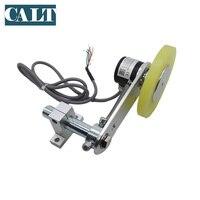 Preço de fábrica única roda personalizado ip67 ghw38 versão à prova dwaterproof água comprimento medição push pull codificador roda com suporte