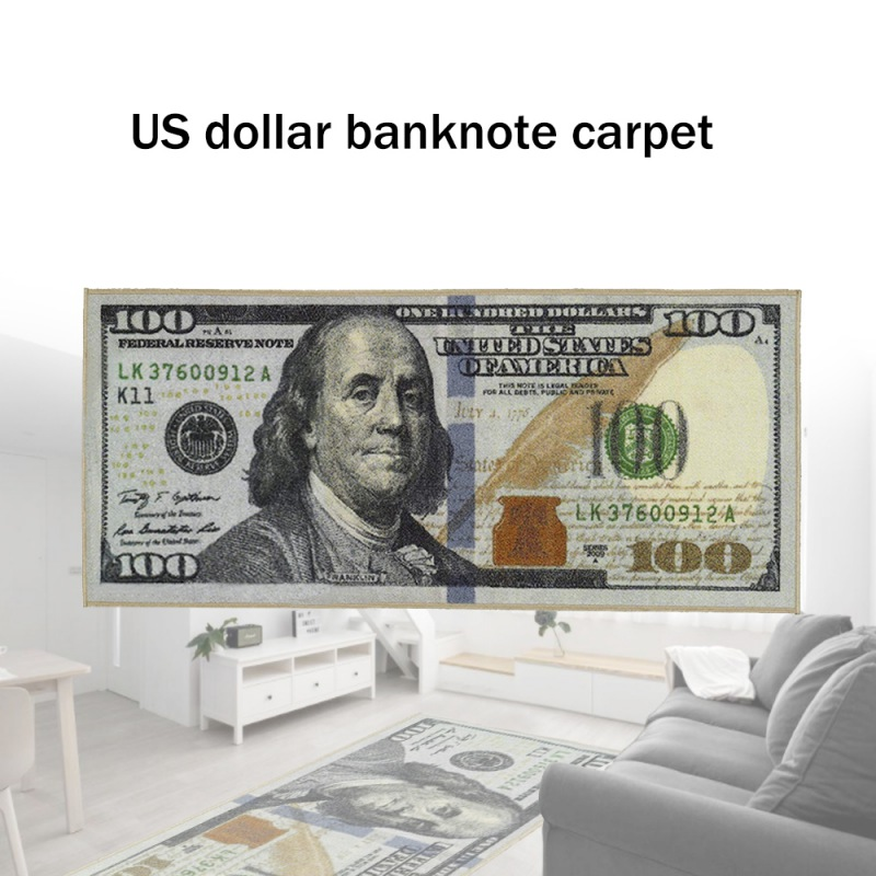Creative Area Rug Carpet Dollar Bill $100 Print Floor Mat Bathroom Kitchen Non-slip Runner Carpets For Living Room Decoration
