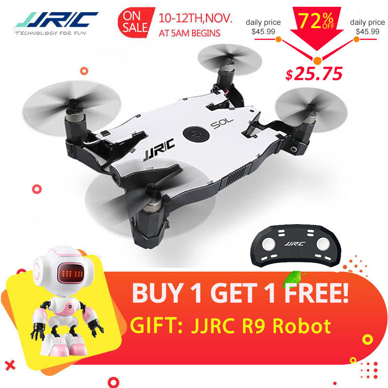 JJR/C JJRC H49 SOL Ultrathin Wifi FPV Selfie Drone 720P Camera Auto Foldable Arm Altitude Hold RC Quadcopter VS H37 H47 E57