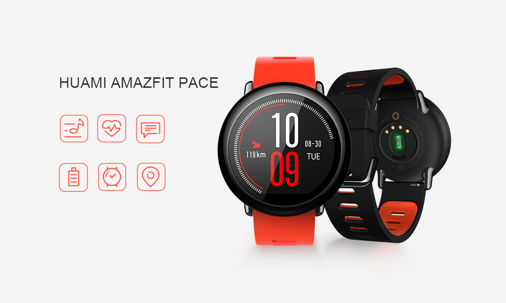HUAMI AMAZFIT PACE SMART WATCH GPS SMARTWATCH WEARABLE DEVICES SMART WATCHES ELECTRONICS FOR XIAOMI PHONE IOS 6