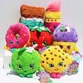 7 estilos de la fruta de la felpa manzana fresa galletas donas de Chocolate barra de labios mollete juguetes para la muchacha Dolls y de peluche