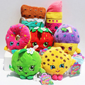 7 styles Fruit Plush Toys Strawberry Apple Cookies Donuts Lipstick Chocolate Muffin Toys for Girl Dolls & Stuffed