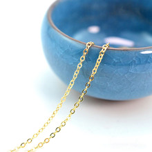 Cross Necklace Chain Thin Craft Matching For Jewelry Making Extender Bracelet Flat Metal Findings Tails DIY Connector(China)
