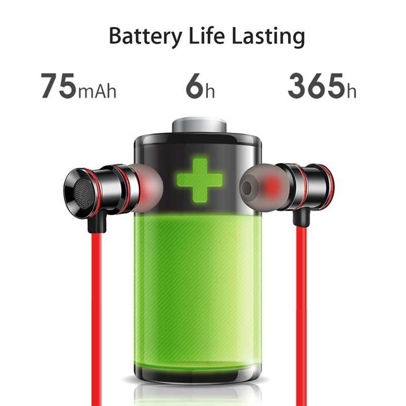 Magnetyczny bezprzewodowy zestaw słuchawkowy Bluetooth 5.0 słuchawki sportowe szyi wisi słuchawki stereo Ipx5 wodoodporny Running zestaw słuchawkowy z mikrofonem dla telefonu