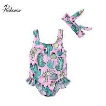 Г. Детский купальник бикини для маленьких девочек, одежда для купания С КАКТУСОМ, пляжная одежда для малышей, 1 шт. детский купальный костюм для девочек детский летний купальник