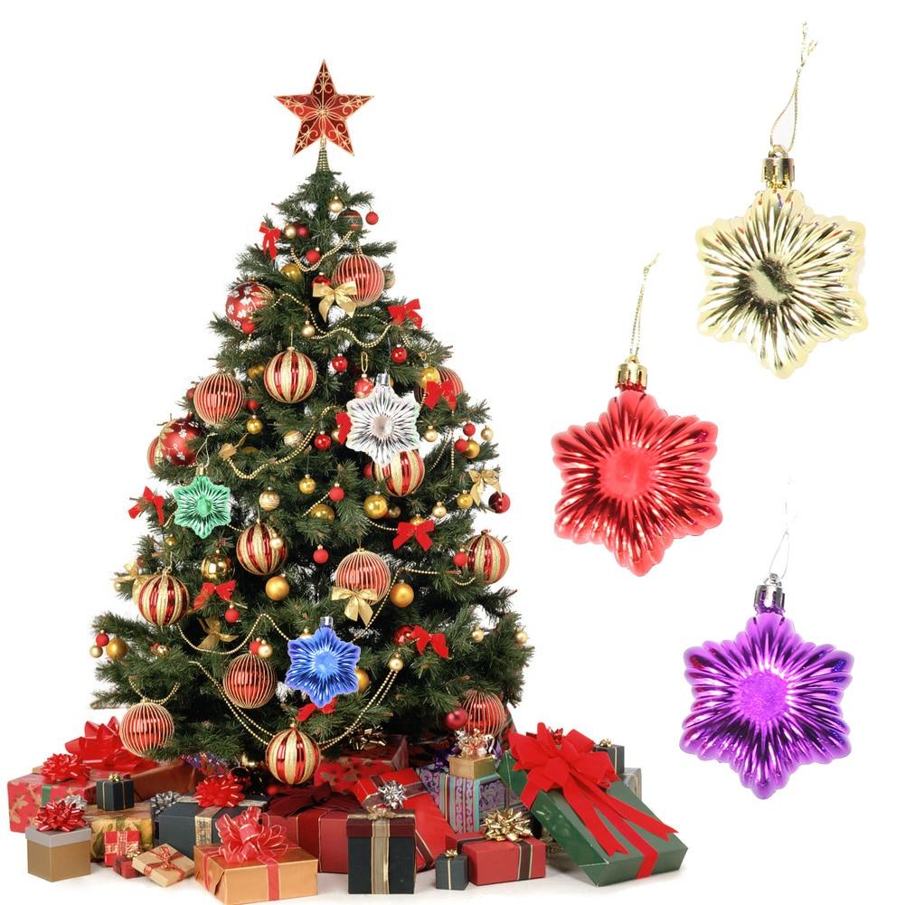 Custom christmas ball ornaments - Aslt 6pcs Personality Shaped Ball Pendant Christmas Tree Decor Hanging Multicolor Christmas Party Ornament For Home