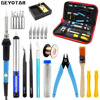 Adjustable Temperature Electric Soldering Iron 220V 60W EU Plug Welding Tool 5pcs IronTips Desoldering Pump Solder