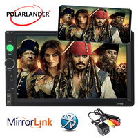 Mirror Link HD 7 INCH 2 DIN Touch Screen Bluetooth Radio Support Rear View Camera Universal Car Stereo hot sale