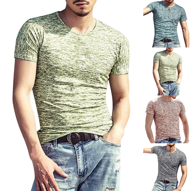 Fashion Men T Shirts Summer Sports Running Top Tees Mens Clothing Short Sleeve Casual O Neck cotton Fitness Tshirt Sportwears