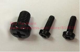 M8 Machine Screws Nylon Plastic Bolts Round Head Phillips Drive Black Pack 100