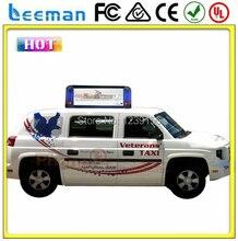 Leeman открытый использовать HD рекламы двойными бортами сам дизайн формы ВОДИТЬ такси вверху знак P6 открытый полноцветные светодиодные панели дисплей