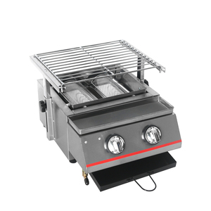 Image 5 - Stainless Steel BBQ Grill 2 Burners Gas Barbecue Infrared Gas Burner Nonstick Roasting Tray Gas Grill For Outdoor Camping
