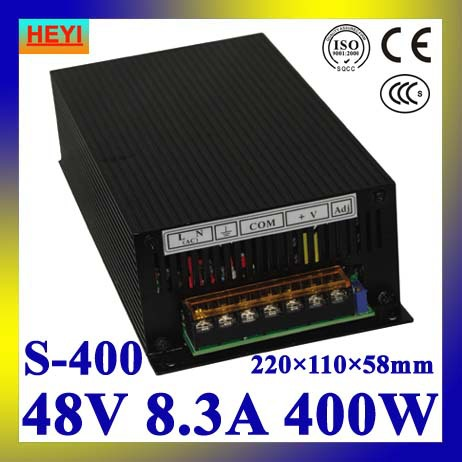 LED power supply  48V 8.3A 100~120V/200~240V AC input single output switching power supply 400W 48V transformer 1200w 48v adjustable 220v input single output switching power supply for led strip light ac to dc