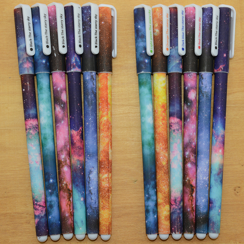 6 pcs gel pen papelaria caneta lapices pens cartoon material escolar kawaii stationary canetas coloridas caneta boligrafo lapices erasable pen kawaii stationary material escolar boligrafo gel penne cute canetas floral caneta stylo borrable cancellabi
