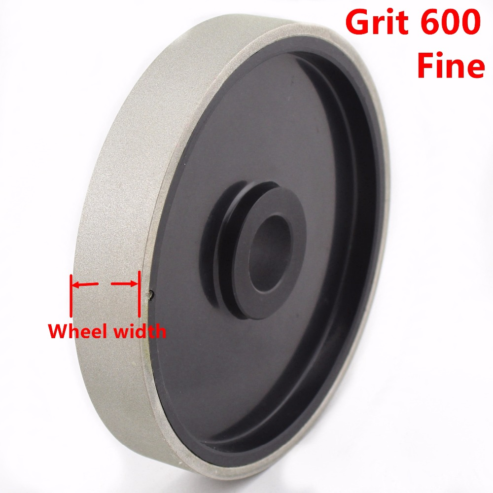 "6"" inch Grit 46-2000 Coarse to Fine Lapidary Diamond Grinding Wheel Coated Cabbing Disk With Bushing Arbor 1"" inch 3/4 5/8 1/2"