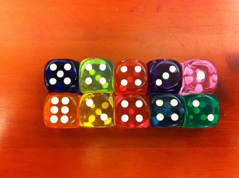 14mm bulat dadu warna transparan / hadiah mainan kreatif / hadiah / 14 # dadu mewah / hadiah ulang tahun